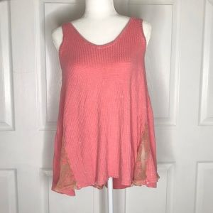 NWT Anthropologie paper crane pink tank top